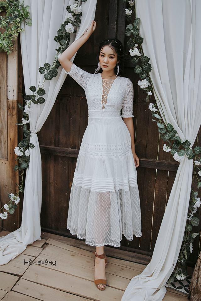 váy maxi đan dây ngực