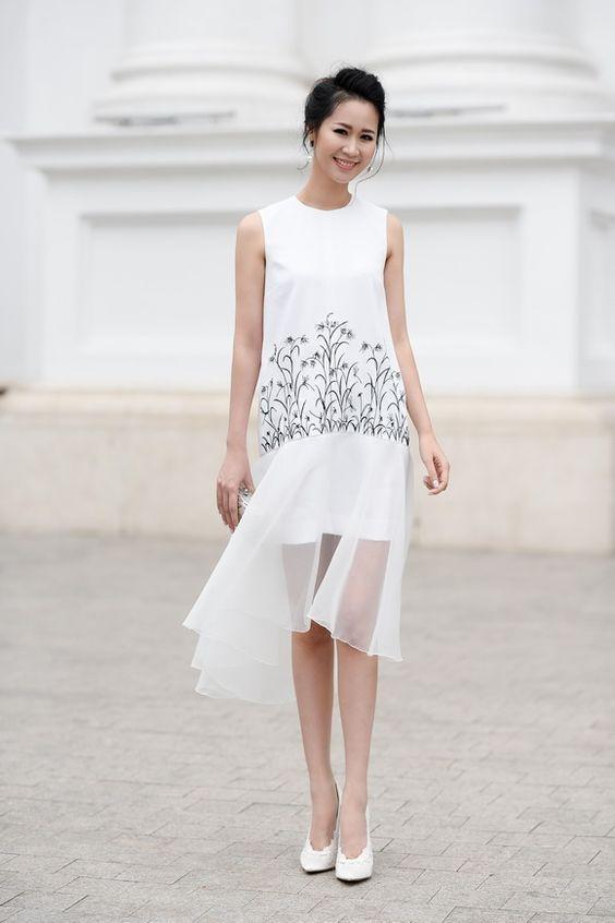 1000 kiểu váy maxi trắng cho nàng diện hè 5