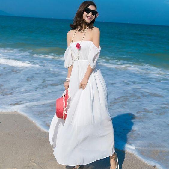 1000 kiểu váy maxi trắng cho nàng diện hè 6