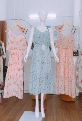Váy maxi hoa nhỏ nhiều màu