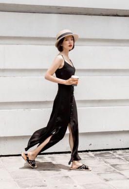 Váy maxi đen dài