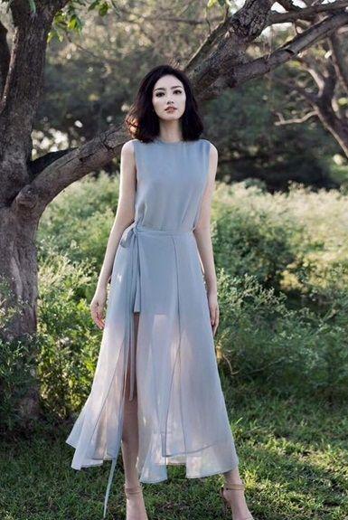 Chọn váy maxi cho từng dáng người với form cao gầy