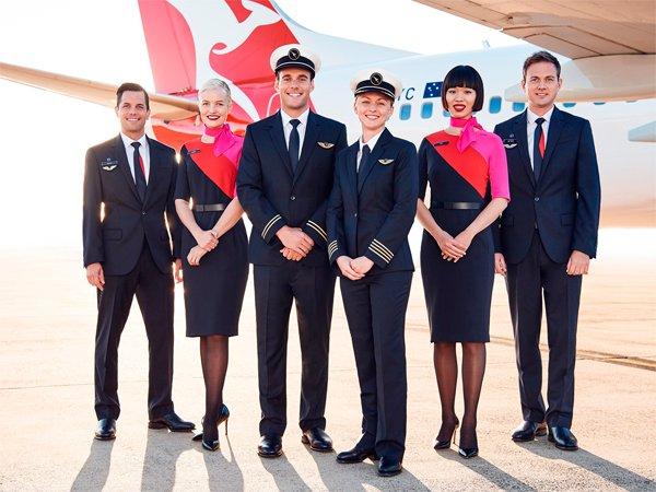đồng phục hàng không qantas