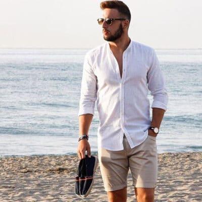 39+ Cách phối đồ với áo sơ mi đi biển chuẩn Fashionista 5