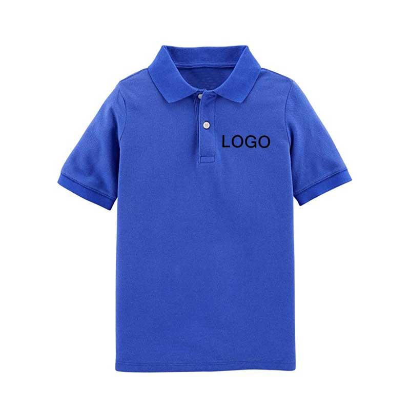 mẫu đồng phục mầm non in logo màu xanh