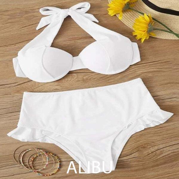 bikini đi biển màu trắng