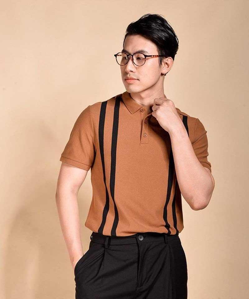 đồng phục công sở nam với tone màu Tan