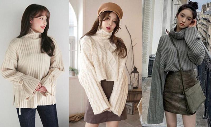 Áo len với nhiều kiểu dáng khác nhau