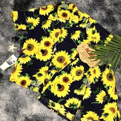 Bộ quần áo sơ mi họa tiết hoa cúc 415
