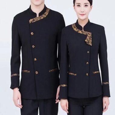 đồng phục quản trị khách sạn màu đen