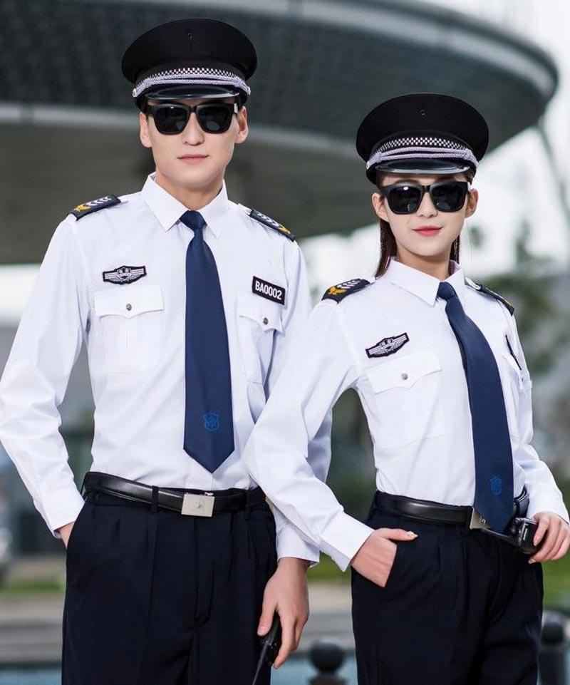 Mẫu áo đồng phục bảo vệ sơ mi dài tay