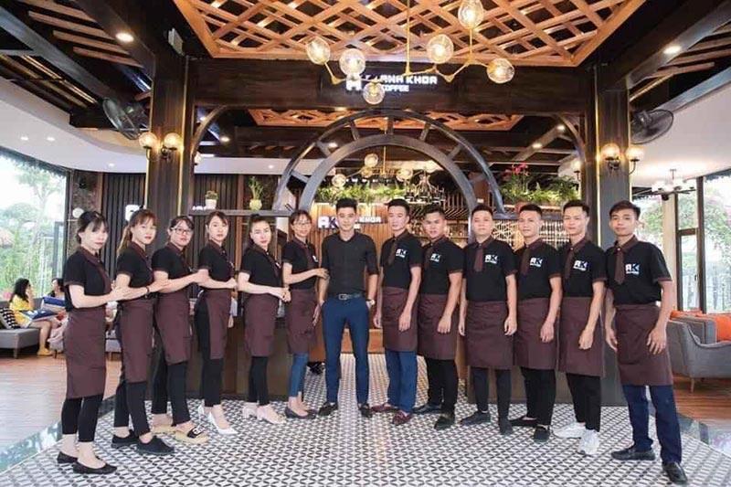Một số số mẫu tạp dề quán cafe đang có tại Alibu