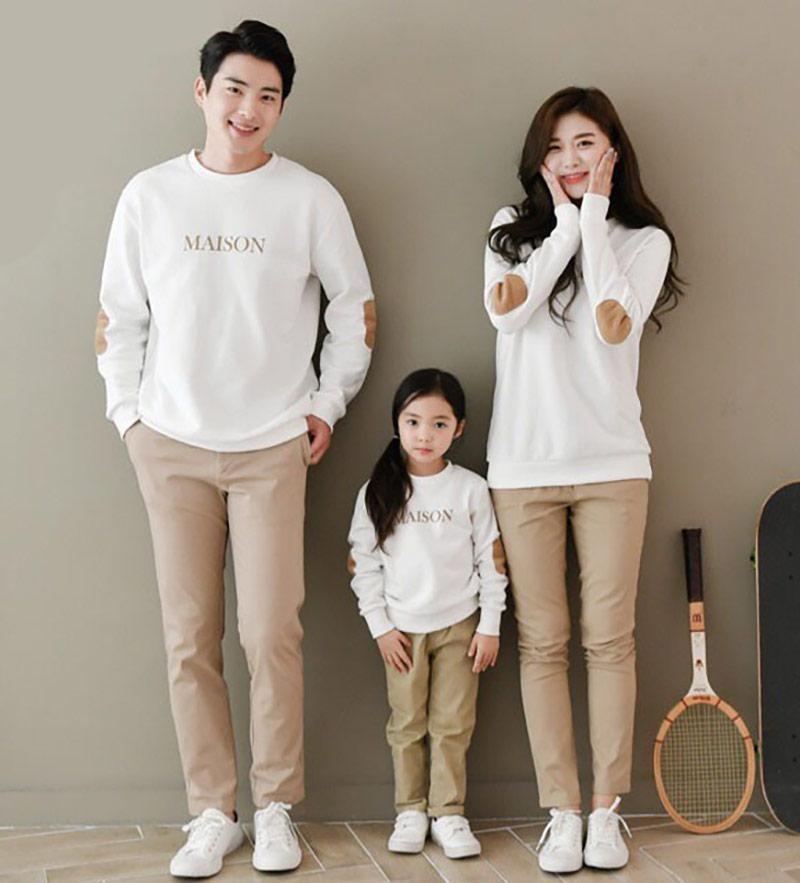 Vải nỉ sử dụng làm áo gia đình có màu sắc cực phong phú