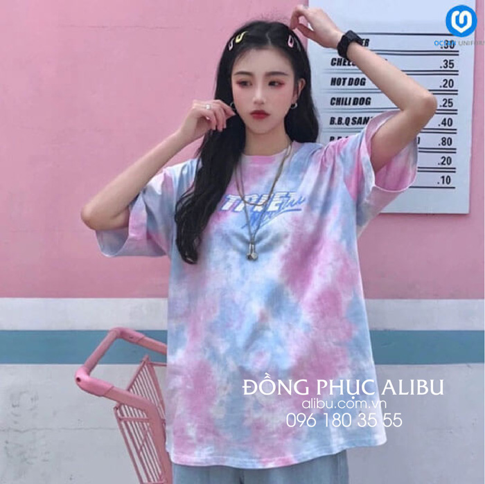 Áo loang hồng xanh tạo nét đẹp ngọt ngào và dễ thương