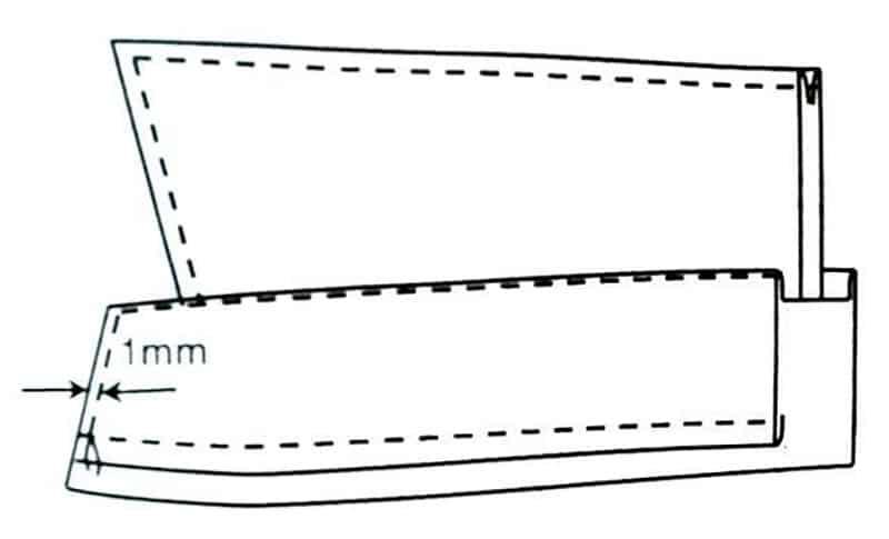 Hình minh họa bước gọt lộn + diễu xung quanh lá ba