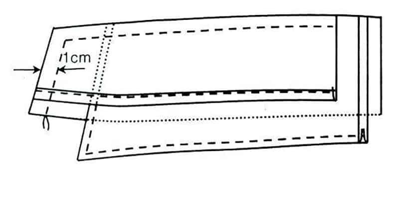Hình minh họa bước may cặp lá ba