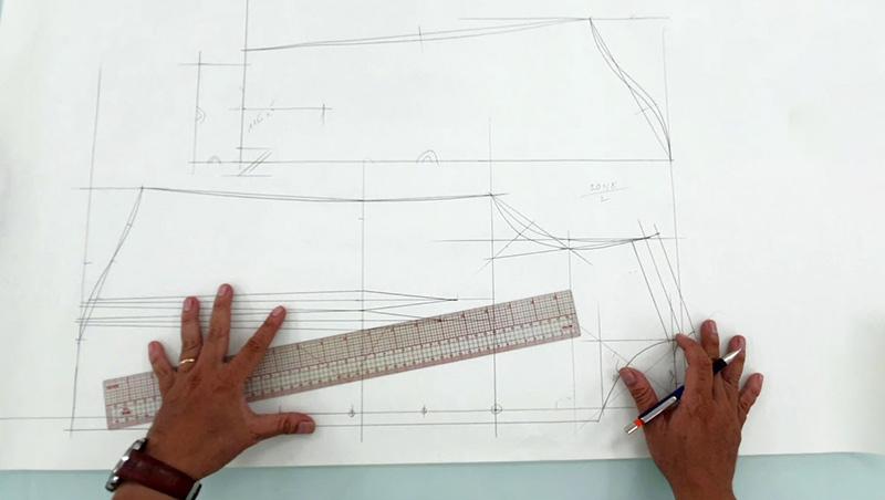 Thiết kế rập là bước đầu tiên trong quy trình sản xuất hàng may mặc