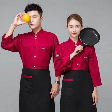 áo đầu bếp nhà hàng hàn quốc