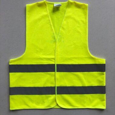 Áo gile công trường màu vàng mặt trước 1
