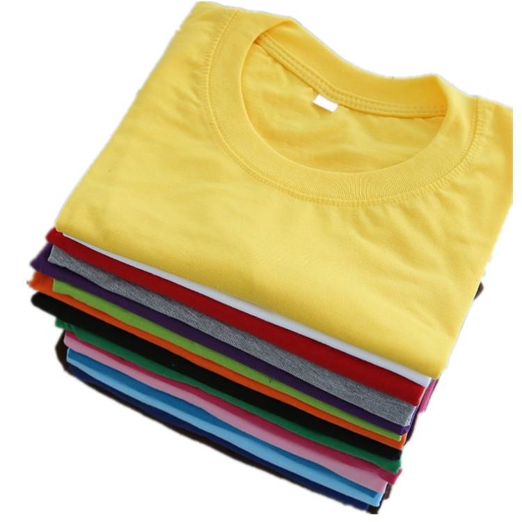 vải may áo thun đồng phục cổ tròn với chất liệu 65% cotton rất được ưa chuộng