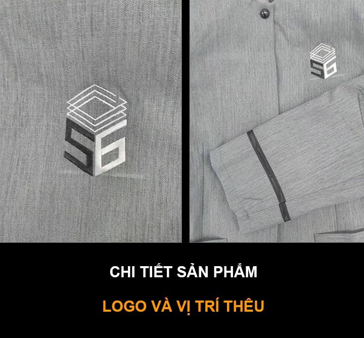 Đồng phục tạp vụ cũng cần có logo để nhận diện thương hiệu