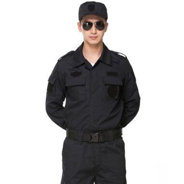 đồng phục bảo vệ mùa đông màu đen