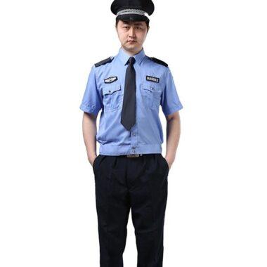 đồng phục bảo vệ trường học mặt trước