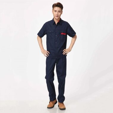 Đồng phục công nhân sam sung màu xanh than