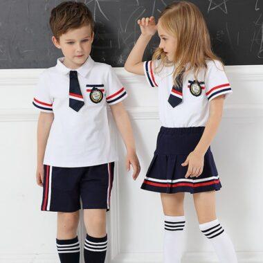 đồng phục mầm non trường quốc tế mùa hè